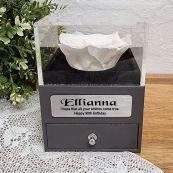 Everlasting White Rose 90th Jewellery Gift Box