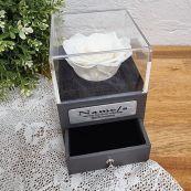 Everlasting White Rose Birthday Jewellery Gift Box