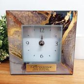 13th Birthday Glass Desk Clock - Treasure Trove