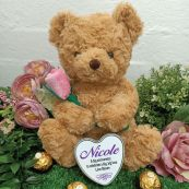 Anniversary Bear with Rose and Heart Tin