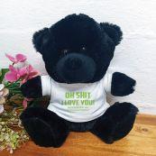Love You Naughty Valentines Bear - Black