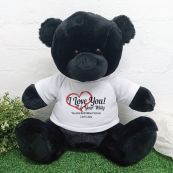 Valentines Bear Love Your Naughty Bits - 40cm Black