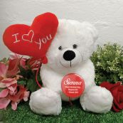 I Love You Valentines Bear with Heart Balloon