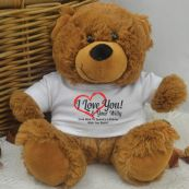 Love Your Naughty Bits Valentines Bear - Brown