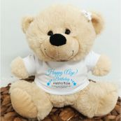 Personalised Birthday Bear Cream Plush