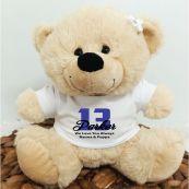 13th Teddy Bear Cream Personalised Plush