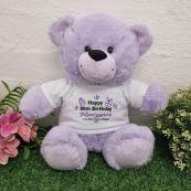 80th Birthday party Bear Lavender Plush 30cm