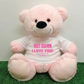 Naughty Love You Valentines Bear - 40cm Light Pink