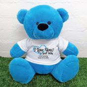 Valentines Bear Love Your Naughty Bits - 40cm Blue