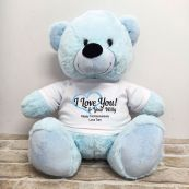 Valentines Bear Love Your Naughty Bits - 40cm Light Blue