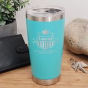 Coach Engraved Insulated Travel Mug 600ml Teal