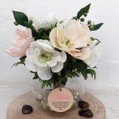 13th Birthday Anemone Berry Flower Mix in Vase - Pink