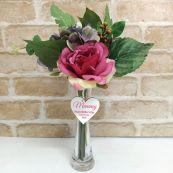 Scented Floral Arrangement  & Vase w/ Mum Tag
