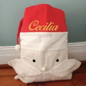 Personalised Santa Face Christmas Sack Plush 70x50