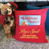 Pop Red Christmas Pocket Pillow Cover