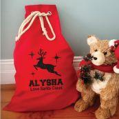 Personalised Santa Sack Red 70 x 50 - Reindeer