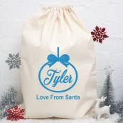 Personalised Christmas Santa Sack 70 x 50 - Glitter Bauble