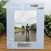 Personalised 50th Birthday Fishing Frame 6x4