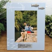 Personalised Uncle Fishing Frame 6x4