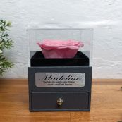 Eternal Pink Rose Love Jewellery Gift Box