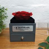 Eternal Red Rose Maid of Honour Jewellery Gift Box