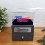 Eternal Rainbow Rose 30th Jewellery Gift Box