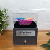 Eternal Rainbow Rose 80th Jewellery Gift Box