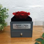 Eternal Red Rose Godmother Jewellery Gift Box