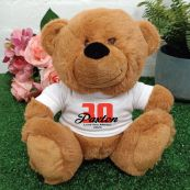 30th Teddy Bear Brown Personalised Plush