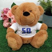 50th Teddy Bear Brown Personalised Plush