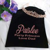 Large Alyssa Tiara Rose Gold in Personalised Bag