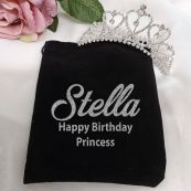 Birthday Tiara Medium Heart in Personalised Bag