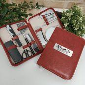 Personalised Mens Brown Grooming Kit
