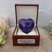 Memorial keepsake Urn For Ashes Purple Heart