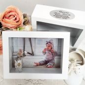 Christening Keepsake Shadow Box Photo Frame 5x7