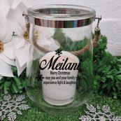 Christmas Hurricane Vase Candle Holder