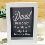Personalised First Money Box Photo Insert - Black Star