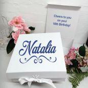 16th Birthday Keepsake Hamper Gift Box White