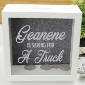 Personalised Saving For Money Box - Pewter
