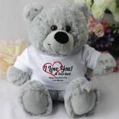 Love Your Naughty Bits Valentines Bear - Grey