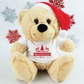 Christmas Personalised Plush Bear - Reindeer