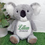 Personalised Koala Cubbie Bear Plush