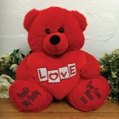 Valentines Love Bear With Red Heart 30cm