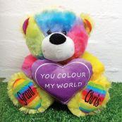 You Colour My World Rainbow Bear 30cm