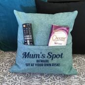 Mum Personalised Mint Green Pocket Reading Pillow Cover