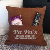 Grandpa Personalised Tan Pocket Pillow Cover