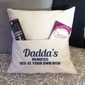Dad Personalised Pocket Pillow Ivory Cover