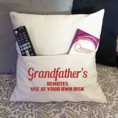 Grandpa Personalised Pocket Pillow Ivory Cover