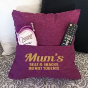 Mum Personalised Pocket Reading Pillow Cover Plum