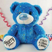 Baby Birth Details Teddy Bear 40cm Hollywood Blue